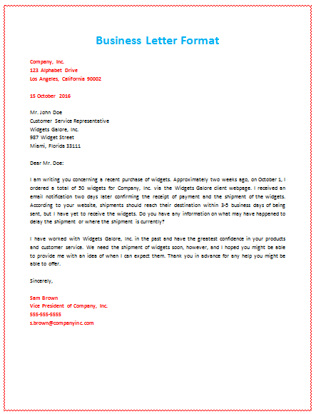 How to format a business letter – Format for Business Letter