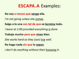 adverbial clauses Spanish