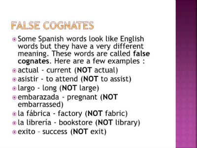 false cognates in spanish