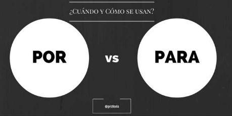 por versus para
