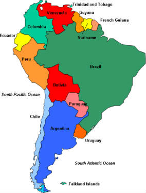 Spanish speaking countries maps spanish speaking countries map countries of south america country and capital gumiabroncs Images