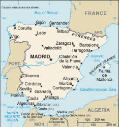 Map Of Spain Labeled.Spanish Speaking Countries Maps